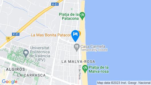 Banana Beach Patacona Map