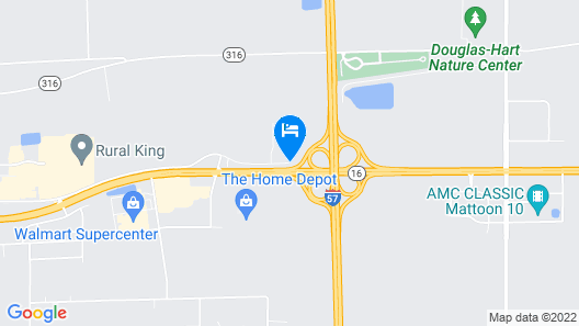 Hampton Inn Mattoon Map