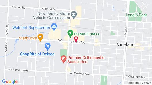 Quality Inn Vineland - Millville Map