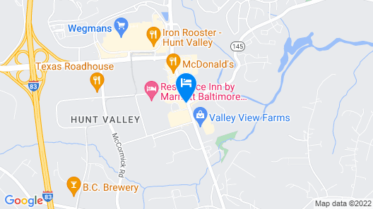 Holiday Inn Express Hunt Valley, an IHG Hotel Map