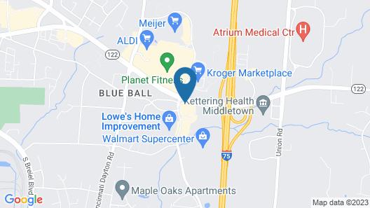 Quality Inn & Suites Middletown - Franklin Map