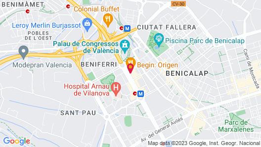 Valencia Rental Map