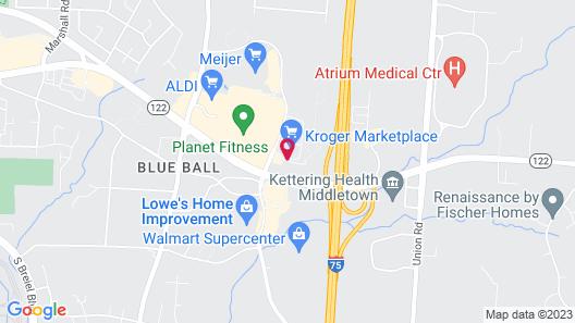 Drury Inn & Suites Middletown Franklin Map
