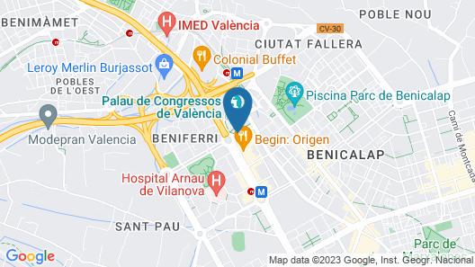 Sercotel Sorolla Palace Hotel Map