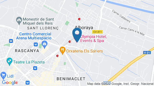 Olympia Hotel Events & Spa Map