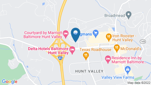 Courtyard by Marriott Baltimore Hunt Valley Map