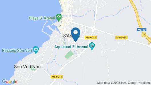 Hotel Costa Mediterraneo Map