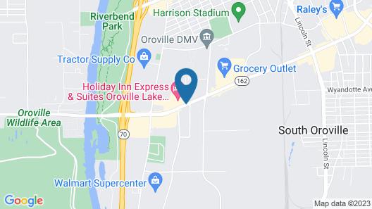 Americas Best Value Inn & Suites Oroville Map