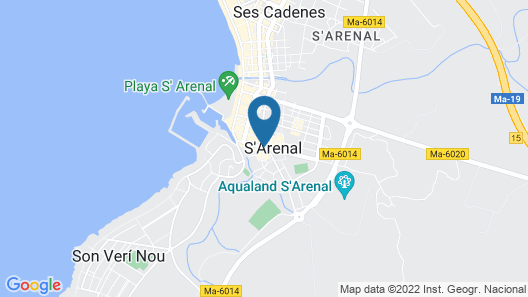 MLL Mediterranean Bay Hotel- Adults Only Map