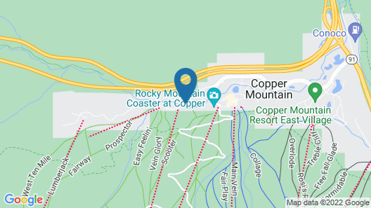 Short Walk to Ski Lift & Private Hot Tub. 39C Map