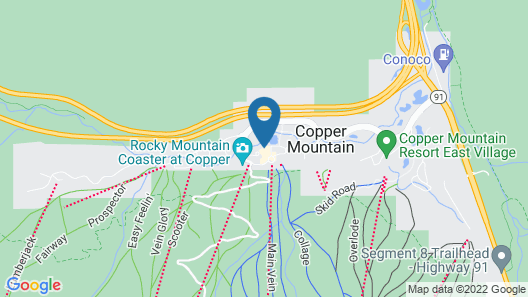 Tucker Mountain at Center Village by Copper Mountain Lodging Map