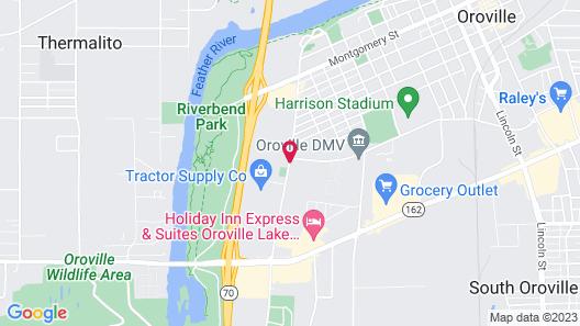 Sunset Inn Lake Oroville Map