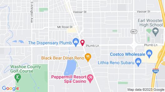 Motel 6 Reno, NV - Virginia Plumb Map