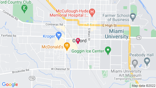 Hampton Inn Oxford/Miami University Area Map