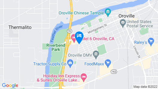 Super 8 by Wyndham Oroville Map