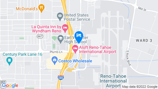 SureStay Plus Reno Airport Plaza Hotel Map