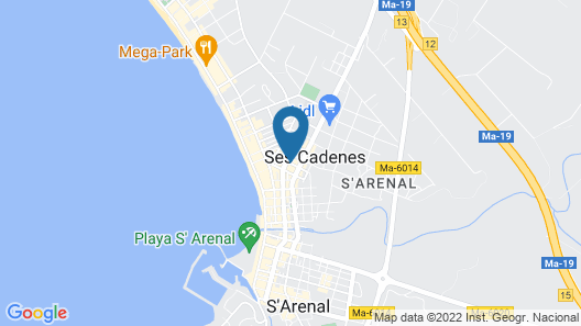 Hotel Riutort Map
