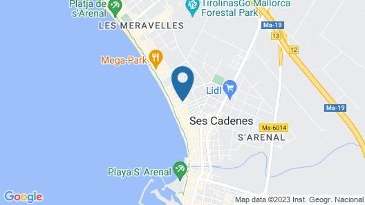Hotel HM Ayron Park Map
