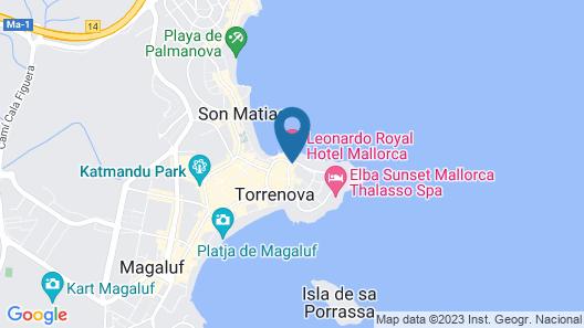 Alua Hawaii Mallorca & Suites Map