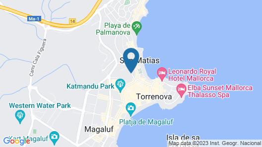 Zafiro Palmanova Map