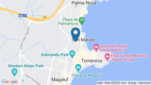 Sol Lunamar Apartamentos - Adults Only Map