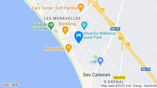 Hipotels Gran Playa de Palma Map