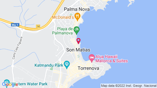 Globales Santa Lucia Hotel Map