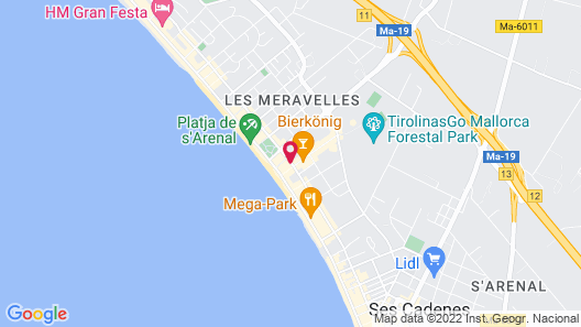 Hotel Riu San Francisco - Adults Only Map