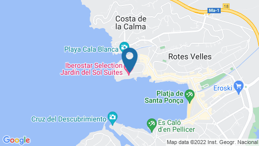 Iberostar Jardín del Sol Suites - Adults Only Map