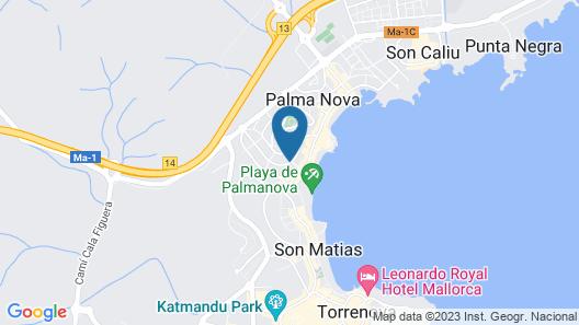Msh Mallorca Senses Hotel, Palmanova, Adults Only Map