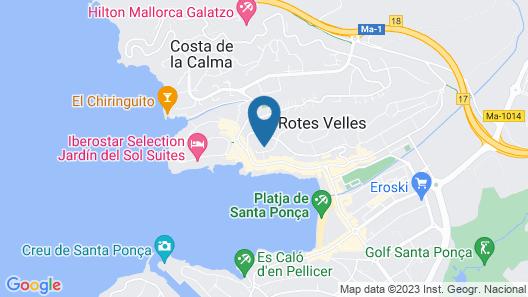 Hotel Club Santa Ponsa Map