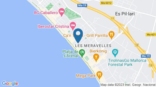 Hotel y Apartamentos Leman Map