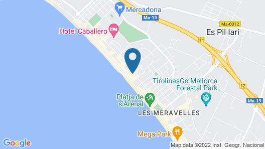 Grupotel Acapulco Playa - Adults only Map