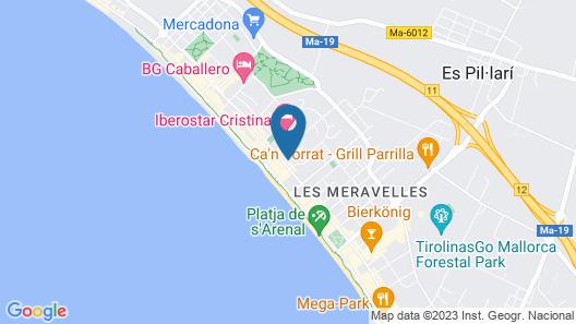 Tent Capi Playa Map