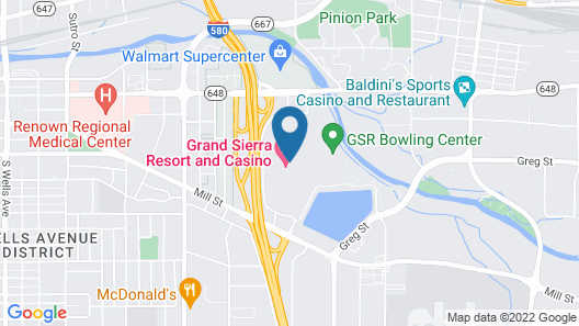Grand Sierra Resort and Casino Map