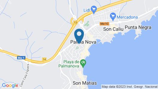 Azuline Hotel Palmanova Garden Map