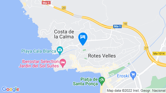Villas Bouganvillia Map