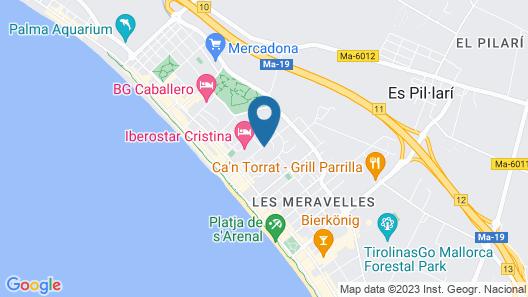 Hotel Playasol Palma Cactus Map