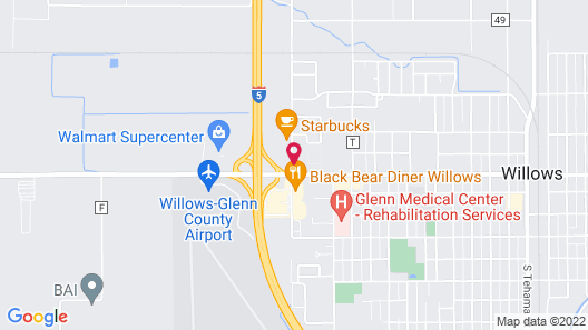 Motel 6 Willows, CA Map