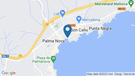 Apartamentos Roc Portonova Map