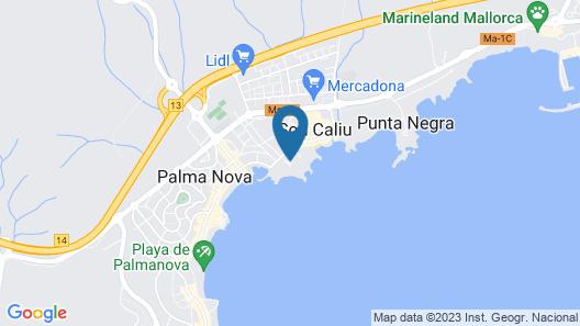 Aparthotel Ponent Mar Map