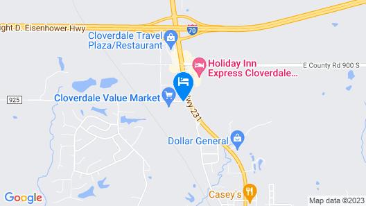 Motel 6 Cloverdale, IN - Greencastle Map