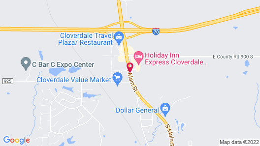 Holiday Inn Express Cloverdale - Greencastle Map