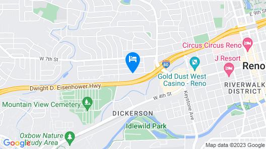 Motel 6 Reno, NV - West Map