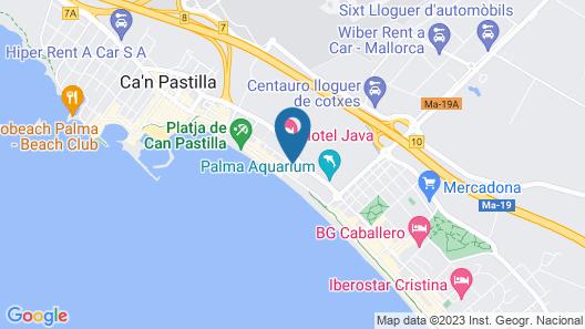 Aparthotel Fontanellas Playa Map
