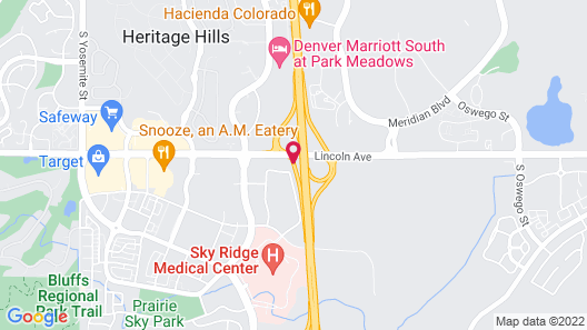 Hampton Inn & Suites Denver/South-RidgeGate Map