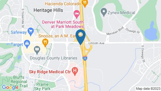 Hampton Inn & Suites Denver/South-RidgeGate Map