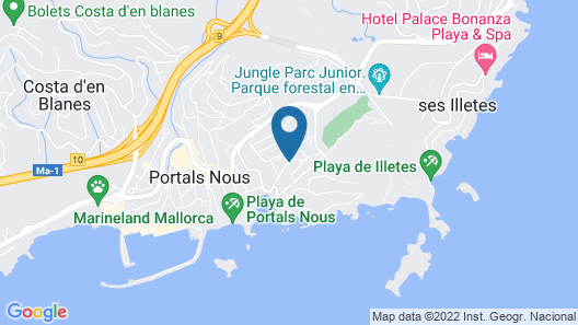 Tacande Portals Hotel - Adults Only Map