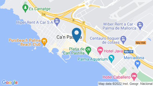 Hotel Amic Miraflores Map