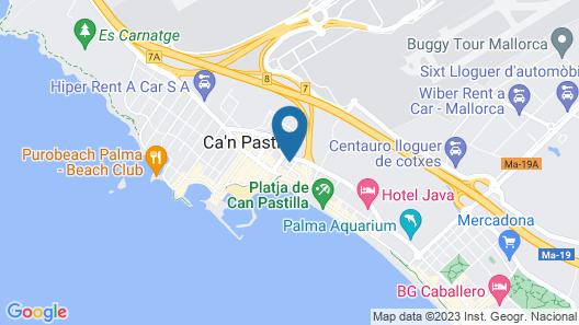 Hotel Amic Can Pastilla Map